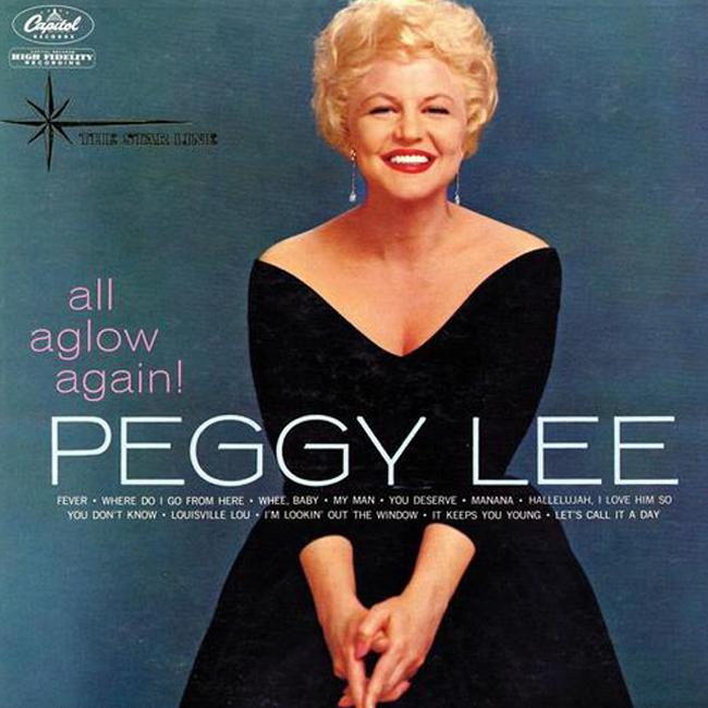 Sittin' pretty with Miss Peggy.