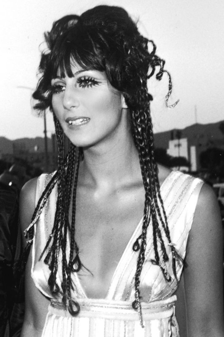 cher with braids