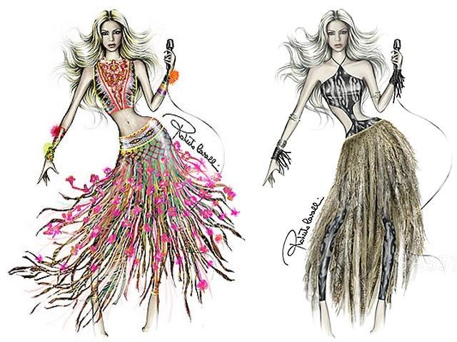 World-Cup-2010-Shakira-Roberto-Cavalli-Ensembles-Sketches