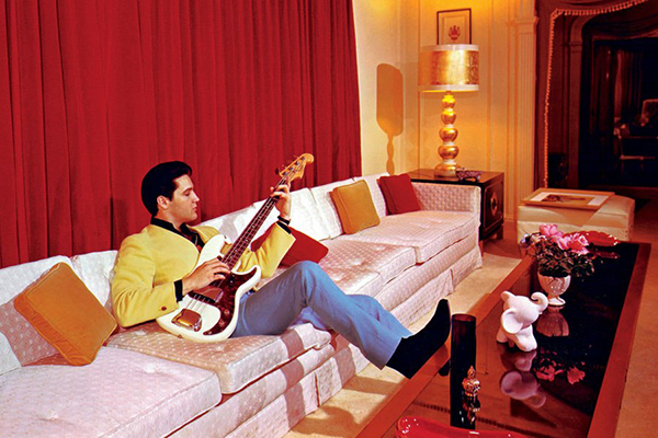 Elvis Strumming in Graceland 1957