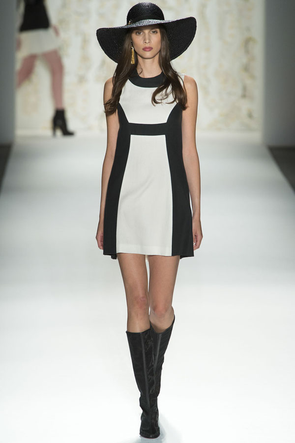Rachel-Zoe-Spring-2013-Black-White-Shift-Dress