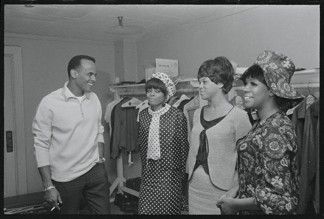 Harry Belafonte Chatting with the Supremes
