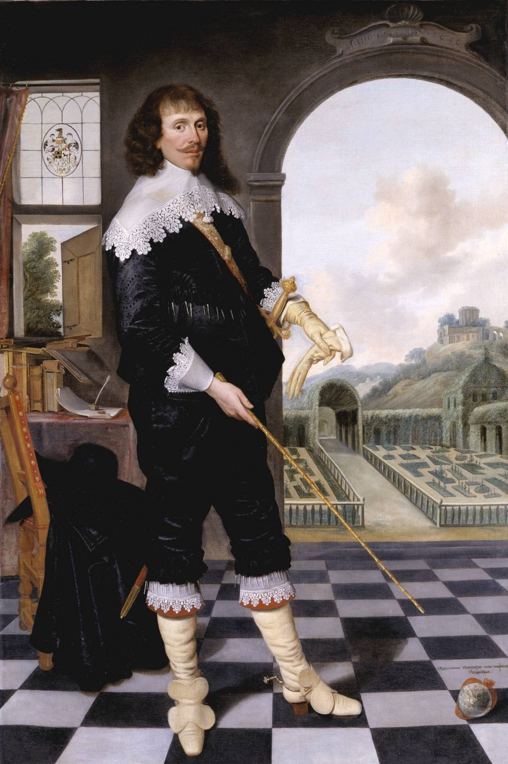 Portrait of William Style of Langley 1636 by British School 17th century 1600-1699